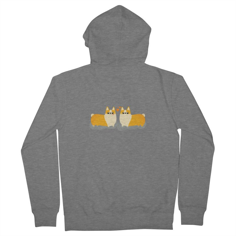 Valentine's Day Men's French Terry Zip-Up Hoody by theladyernestember's Artist Shop