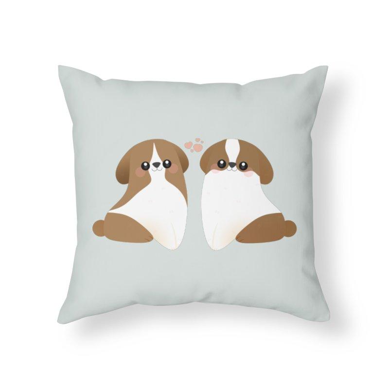 Cute Home Throw Pillow by theladyernestember's Artist Shop