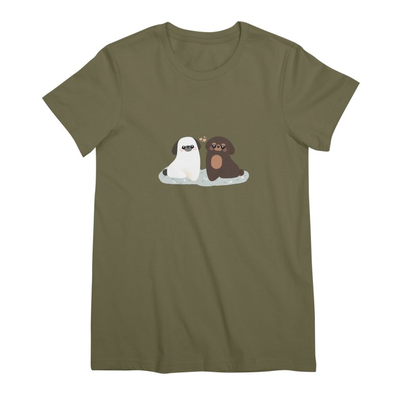 Valentine's Day Women's Premium T-Shirt by theladyernestember's Artist Shop