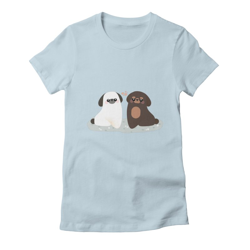 Valentine's Day Women's Fitted T-Shirt by theladyernestember's Artist Shop