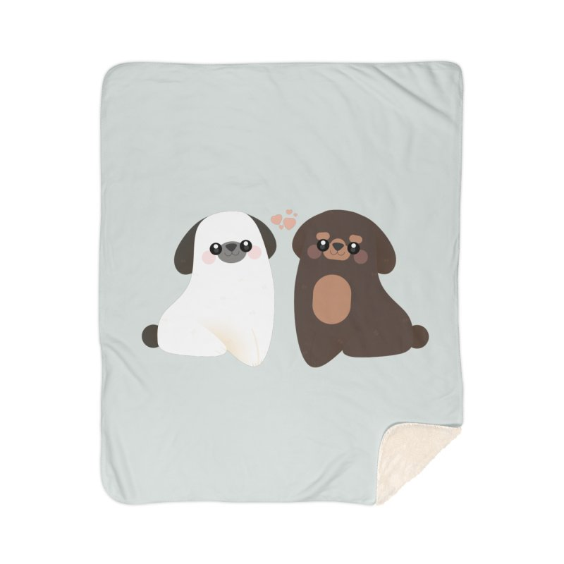 Cute Home Sherpa Blanket Blanket by theladyernestember's Artist Shop