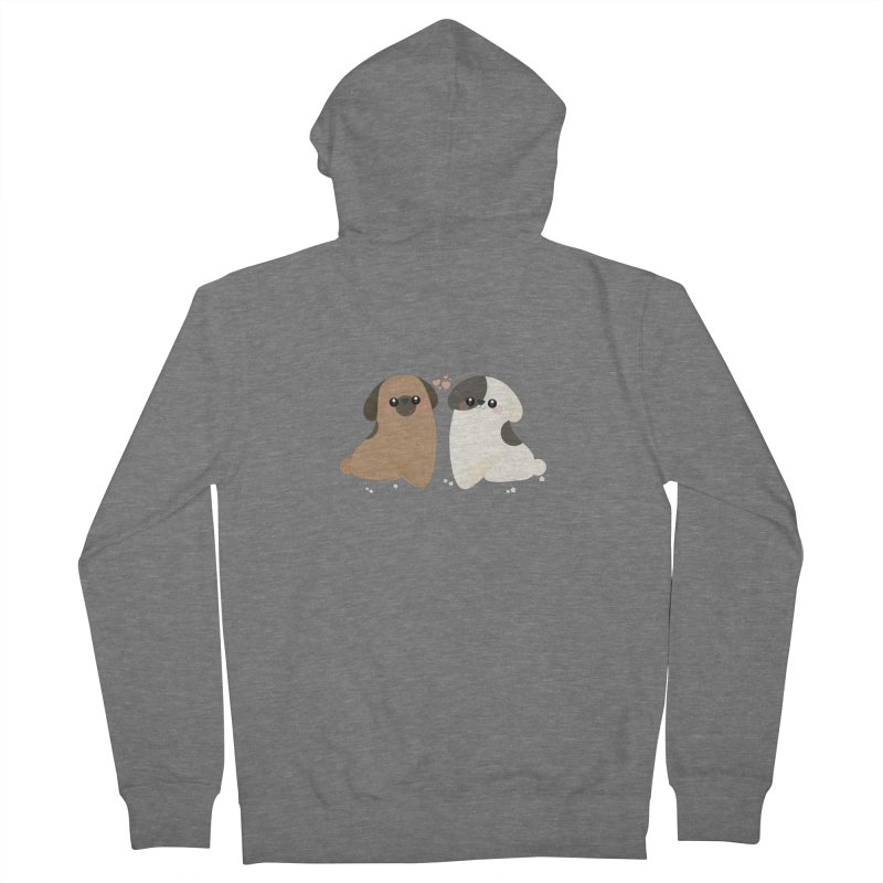 Cute Men's French Terry Zip-Up Hoody by theladyernestember's Artist Shop