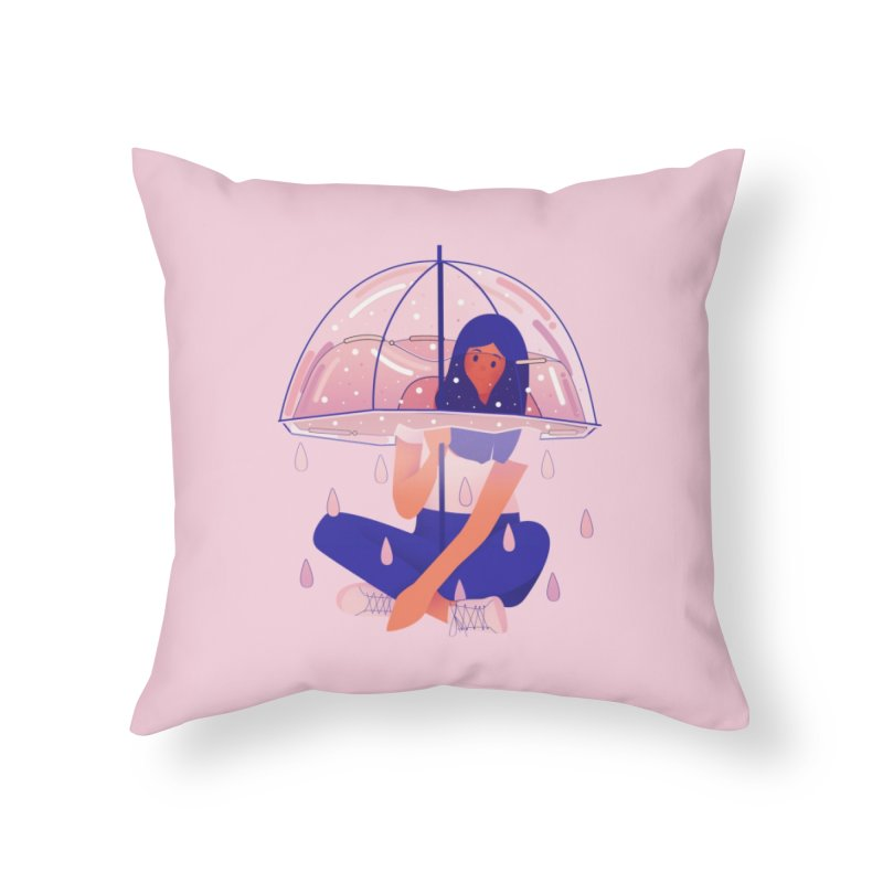 Lady Home Throw Pillow by theladyernestember's Artist Shop