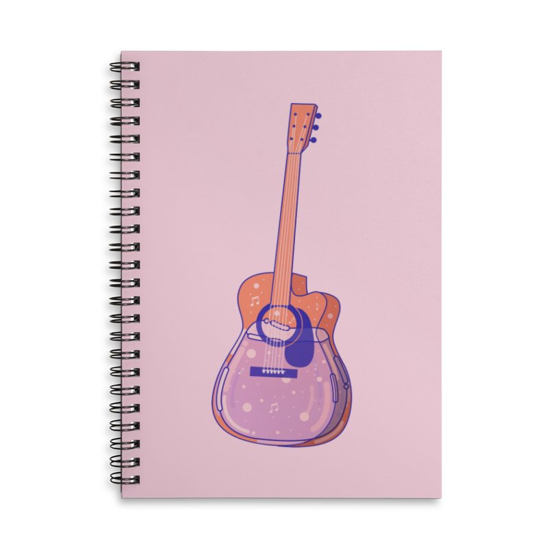 Guitar Accessories Lined Spiral Notebook by theladyernestember's Artist Shop