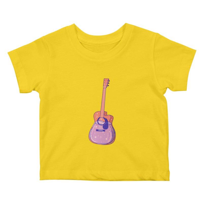 Guitar Kids Baby T-Shirt by theladyernestember's Artist Shop
