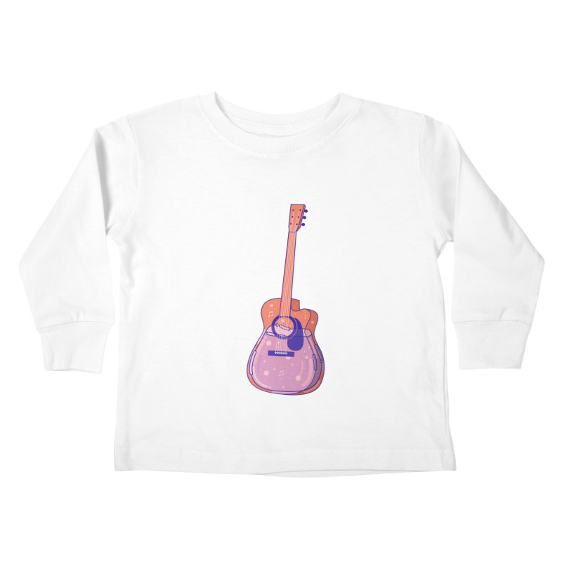 Guitar Kids Toddler Longsleeve T-Shirt by theladyernestember's Artist Shop