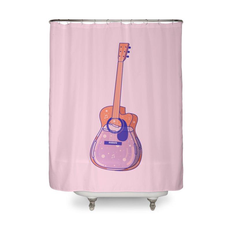 Guitar Home Shower Curtain by theladyernestember's Artist Shop