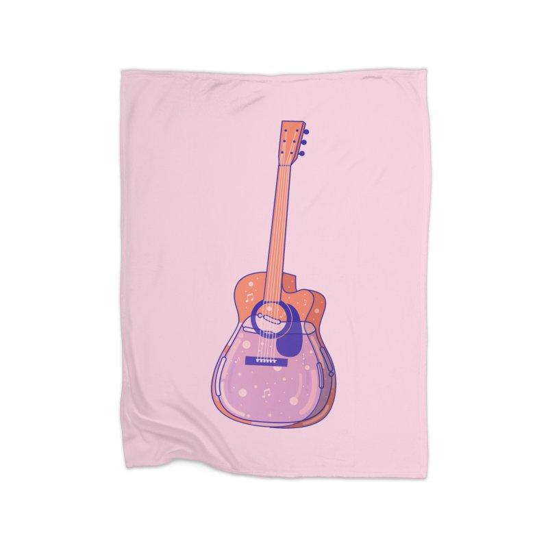 Guitar Home Fleece Blanket Blanket by theladyernestember's Artist Shop