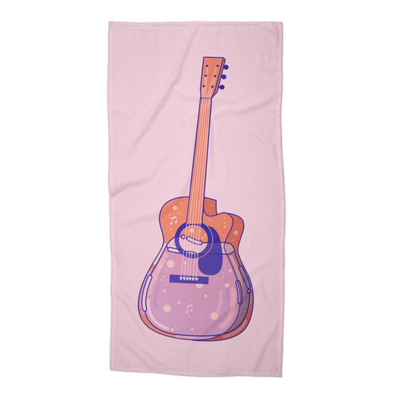 Guitar Accessories Beach Towel by theladyernestember's Artist Shop