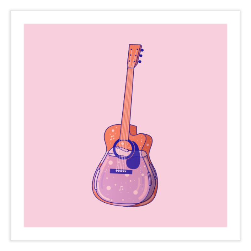 Guitar Home Fine Art Print by theladyernestember's Artist Shop