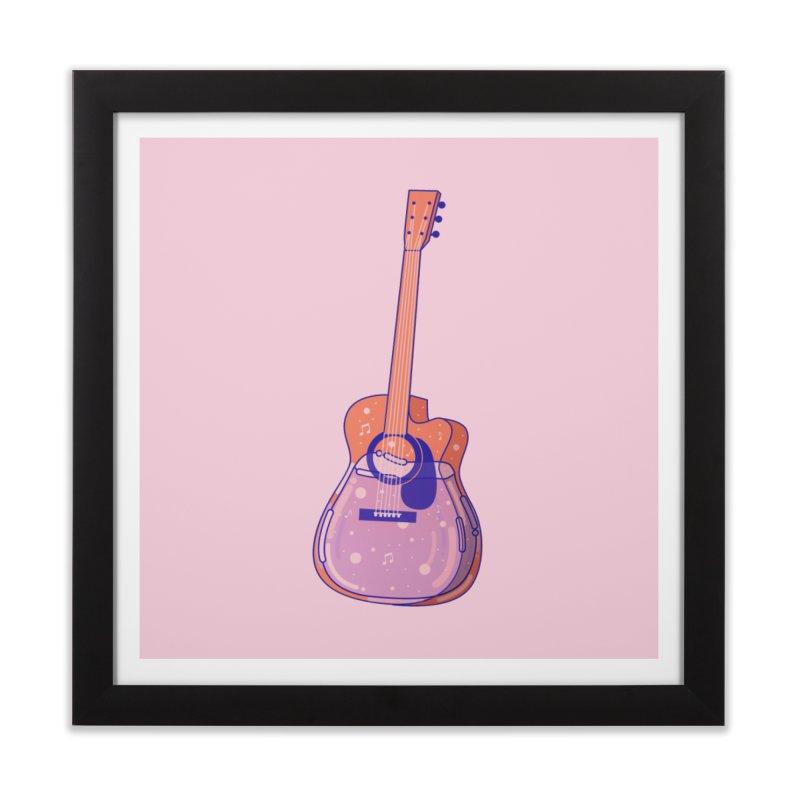 Guitar Home Framed Fine Art Print by theladyernestember's Artist Shop