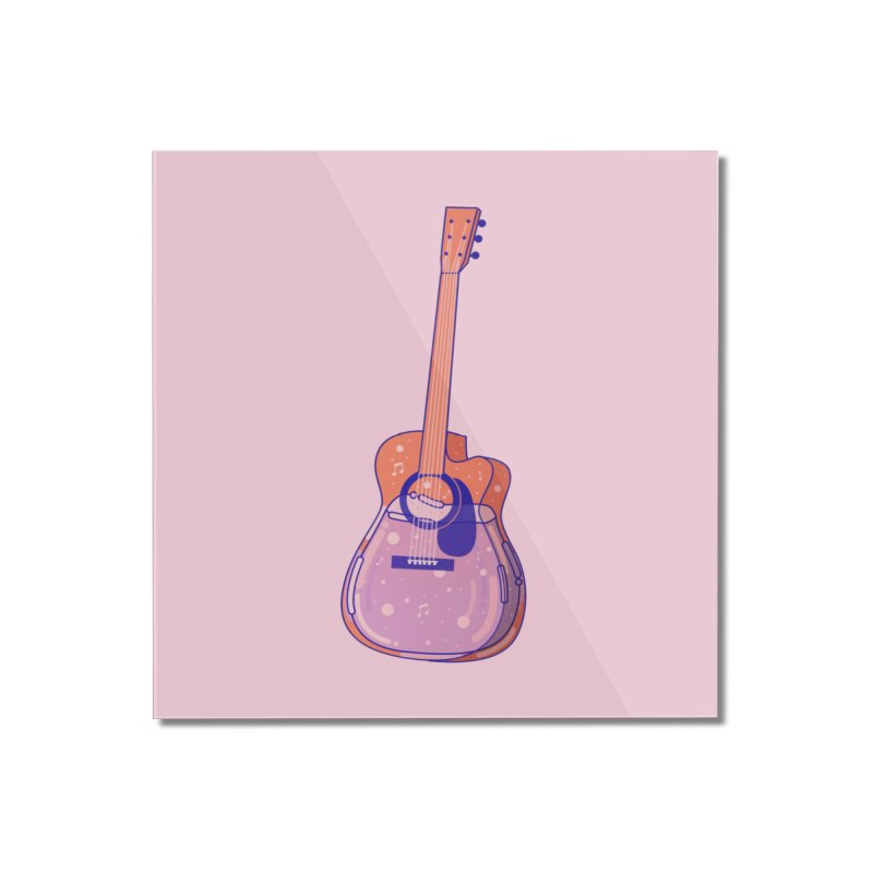 Guitar Home Mounted Acrylic Print by theladyernestember's Artist Shop
