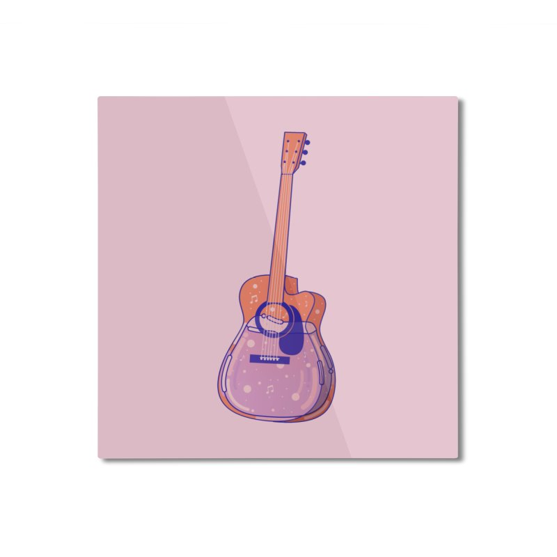 Guitar Home Mounted Aluminum Print by theladyernestember's Artist Shop