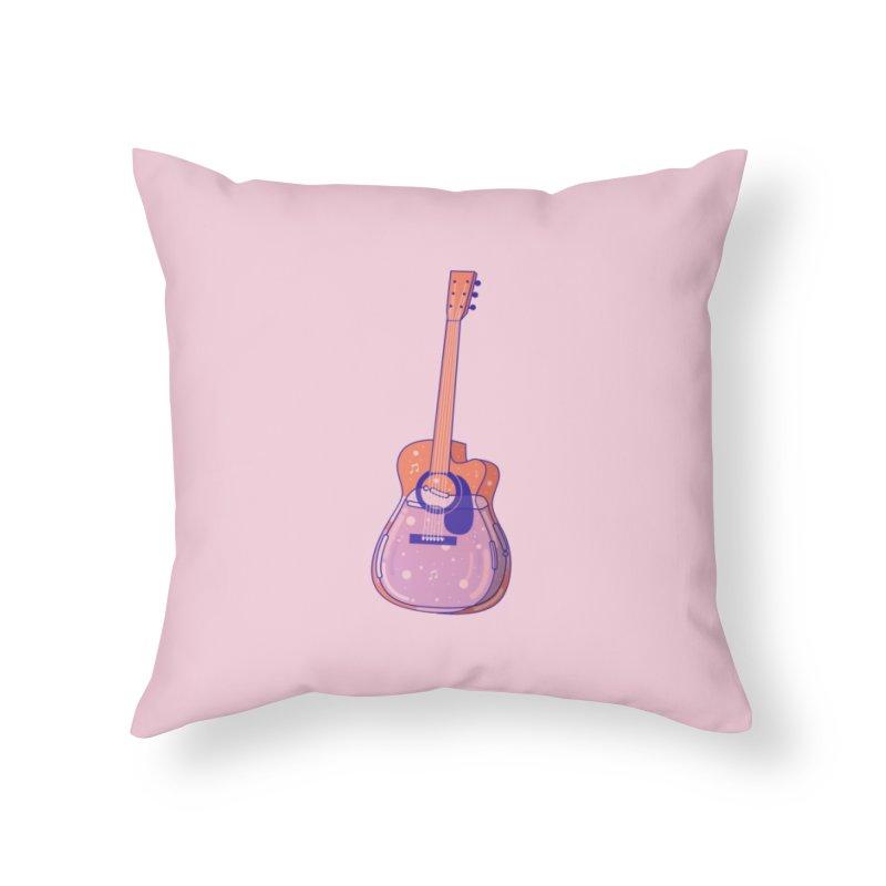 Guitar Home Throw Pillow by theladyernestember's Artist Shop