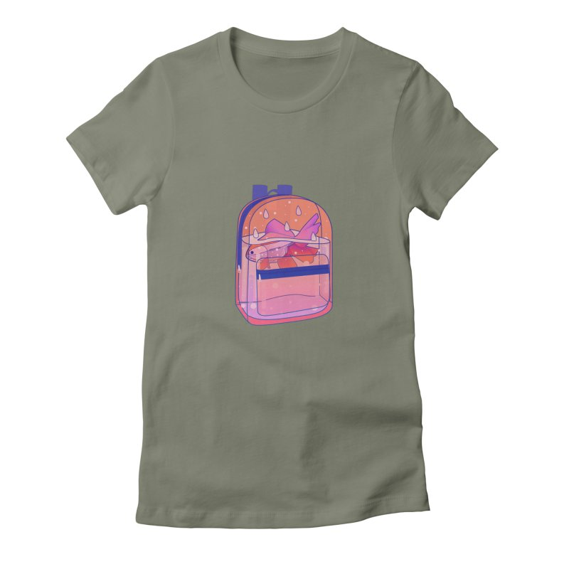 Bag Aquarium Women's Fitted T-Shirt by theladyernestember's Artist Shop