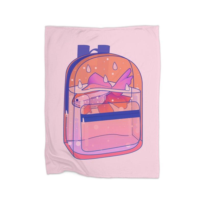 Bag Aquarium Home Fleece Blanket Blanket by theladyernestember's Artist Shop