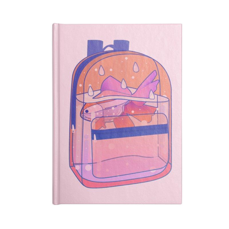 Bag Aquarium Accessories Lined Journal Notebook by theladyernestember's Artist Shop