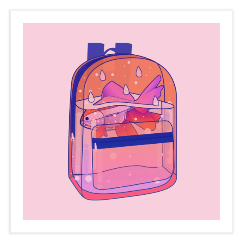 Bag Aquarium Home Fine Art Print by theladyernestember's Artist Shop