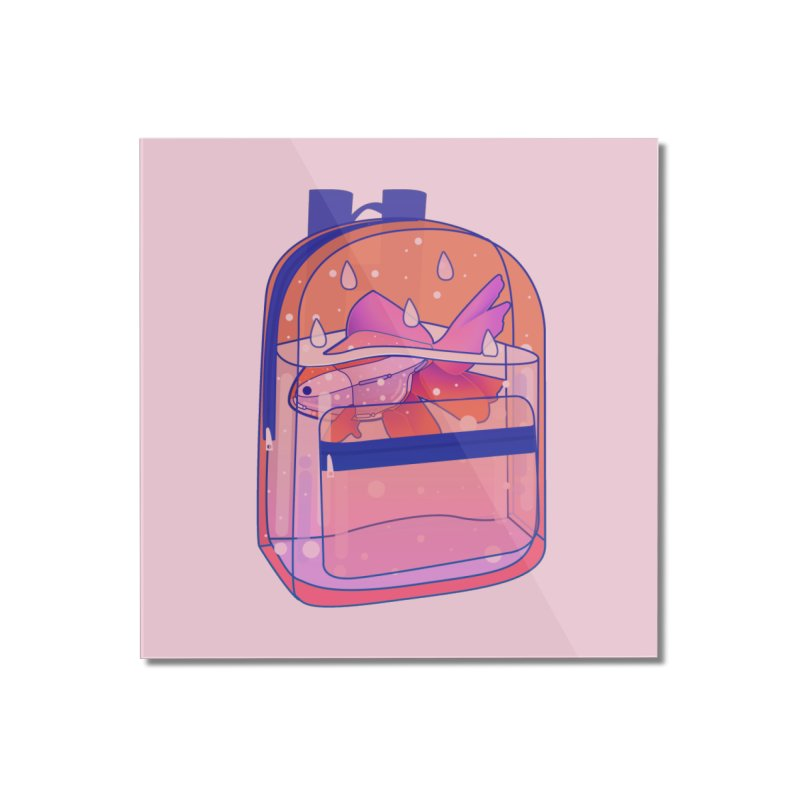 Bag Aquarium Home Mounted Acrylic Print by theladyernestember's Artist Shop