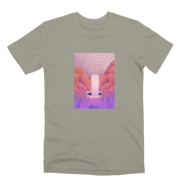 Waterfall Men's Premium T-Shirt by theladyernestember's Artist Shop