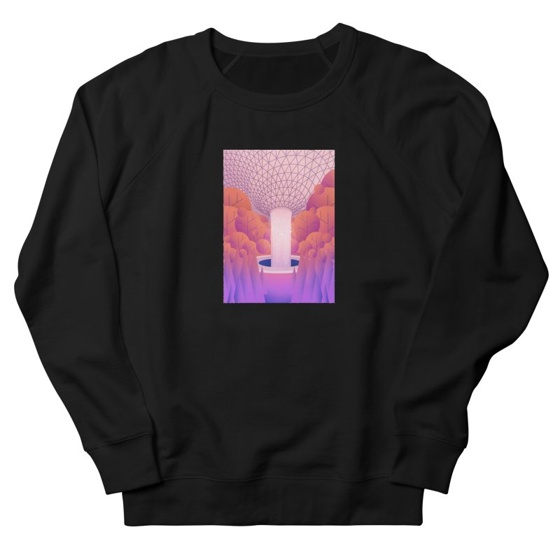 Waterfall Women's French Terry Sweatshirt by theladyernestember's Artist Shop