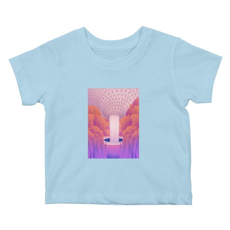 Waterfall Kids Baby T-Shirt by theladyernestember's Artist Shop