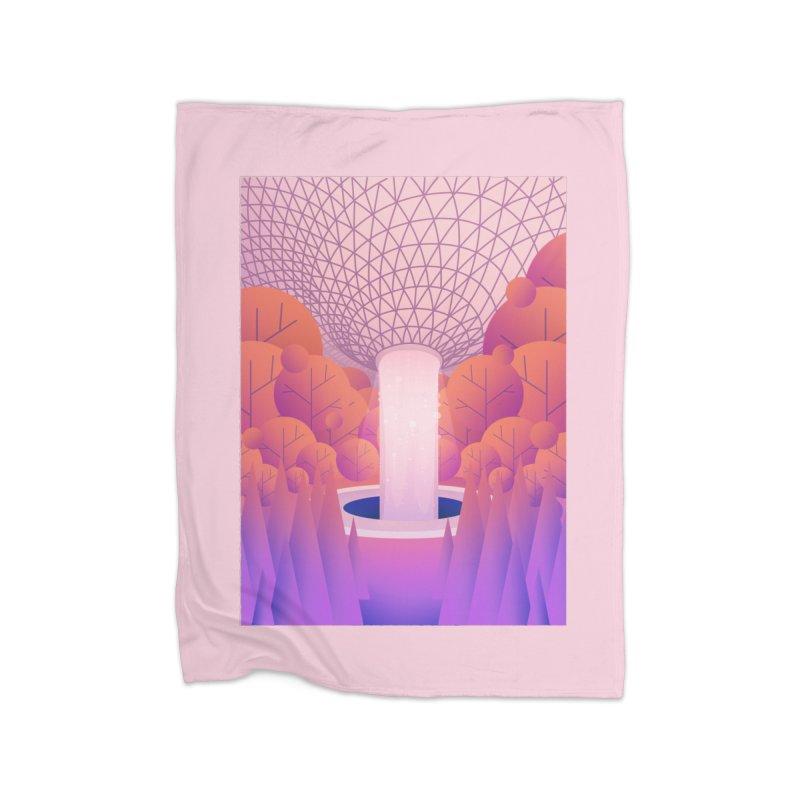 Waterfall Home Fleece Blanket Blanket by theladyernestember's Artist Shop