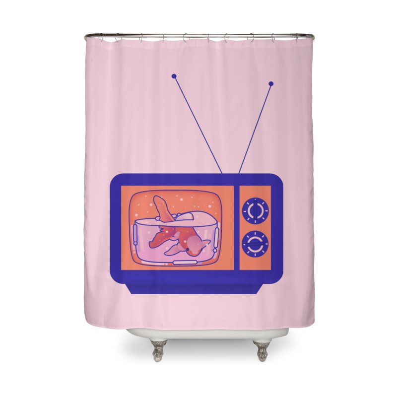 Television Home Shower Curtain by theladyernestember's Artist Shop