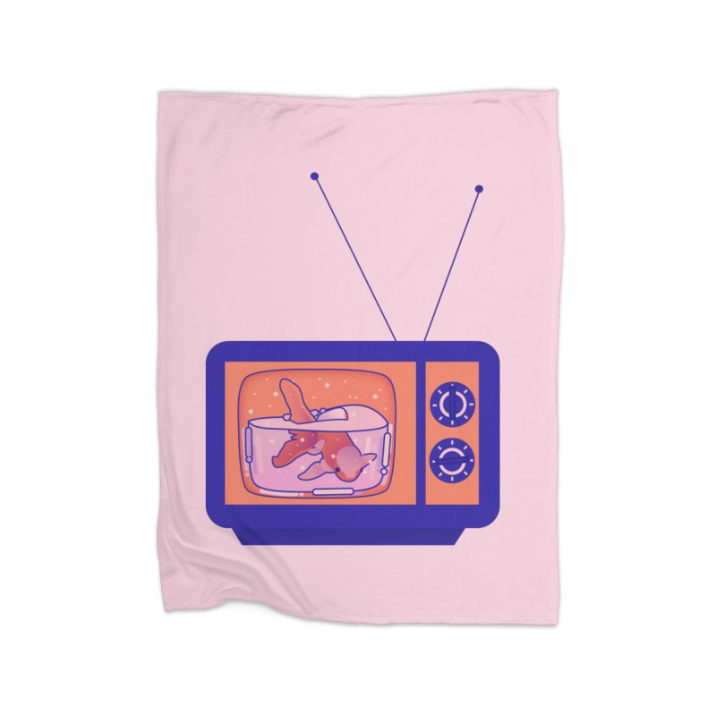 Television Home Fleece Blanket Blanket by theladyernestember's Artist Shop