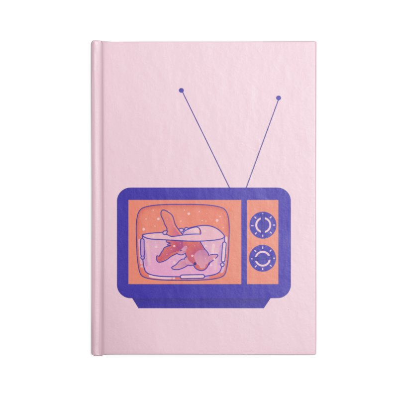 Television Accessories Lined Journal Notebook by theladyernestember's Artist Shop