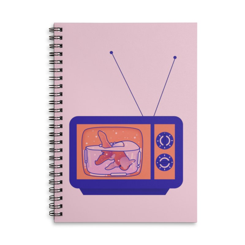 Television Accessories Lined Spiral Notebook by theladyernestember's Artist Shop
