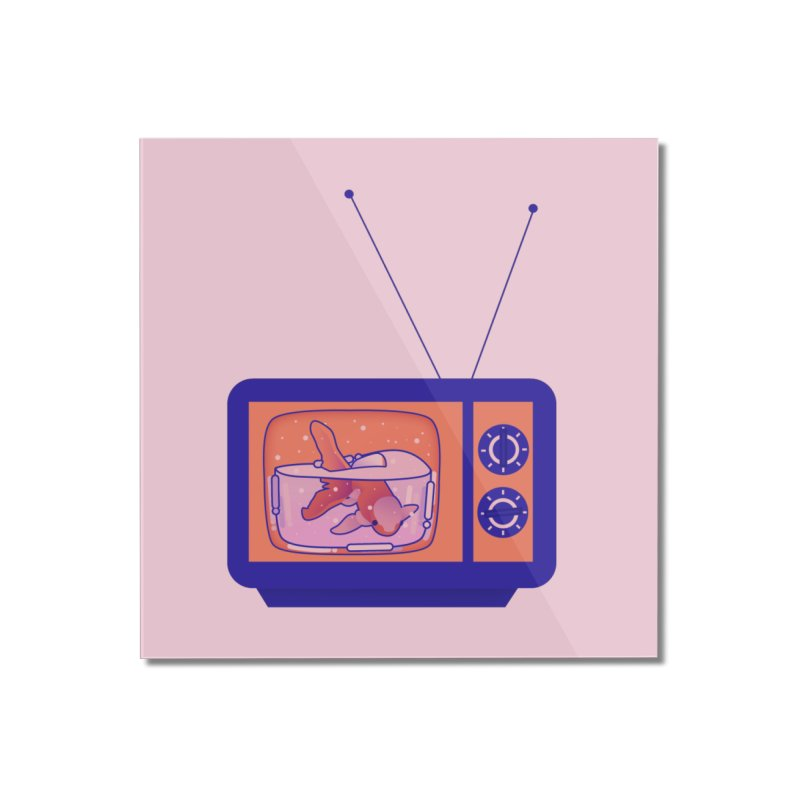 Television Home Mounted Acrylic Print by theladyernestember's Artist Shop