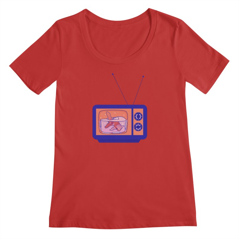Television Women's Regular Scoop Neck by theladyernestember's Artist Shop