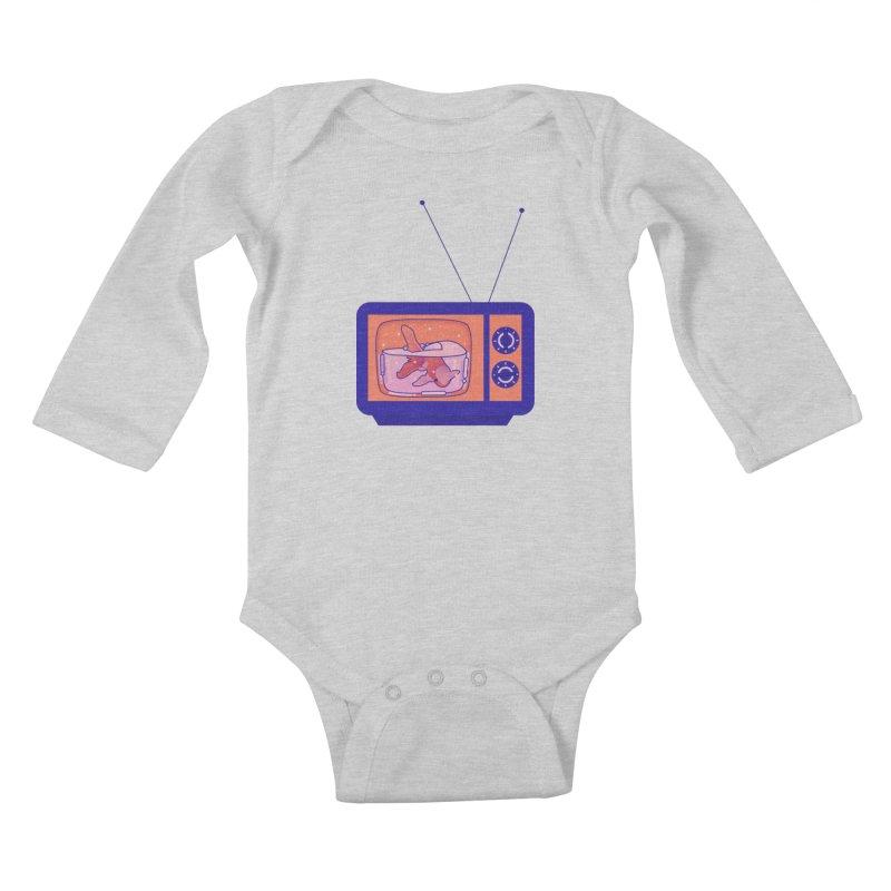 Television Kids Baby Longsleeve Bodysuit by theladyernestember's Artist Shop