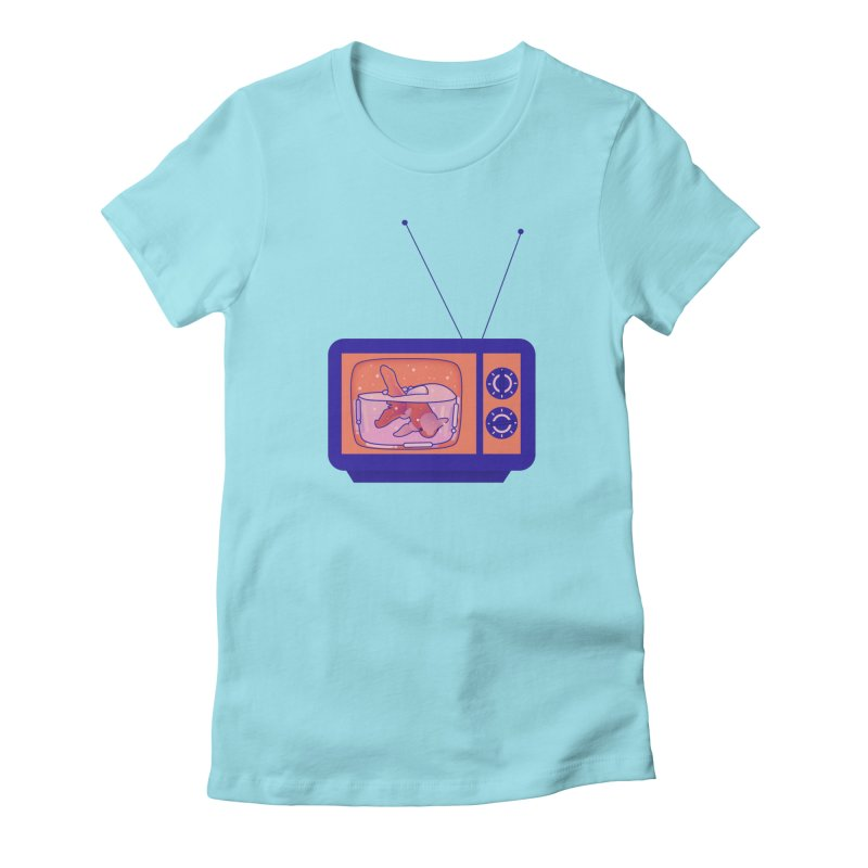 Television Women's Fitted T-Shirt by theladyernestember's Artist Shop