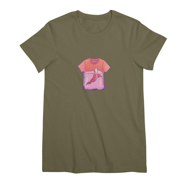 Whale Women's Premium T-Shirt by theladyernestember's Artist Shop