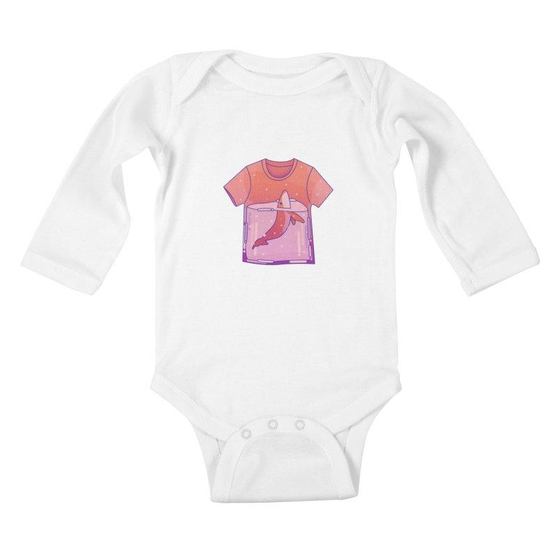 Whale Kids Baby Longsleeve Bodysuit by theladyernestember's Artist Shop