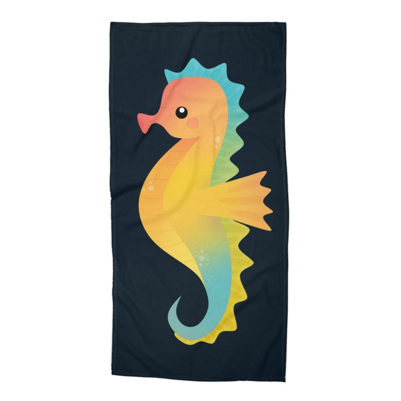 Seahorse Accessories Beach Towel by theladyernestember's Artist Shop