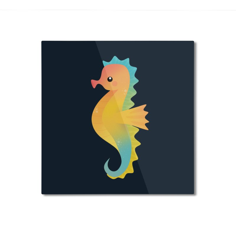 Seahorse Home Mounted Aluminum Print by theladyernestember's Artist Shop