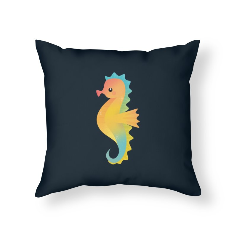 Seahorse Home Throw Pillow by theladyernestember's Artist Shop