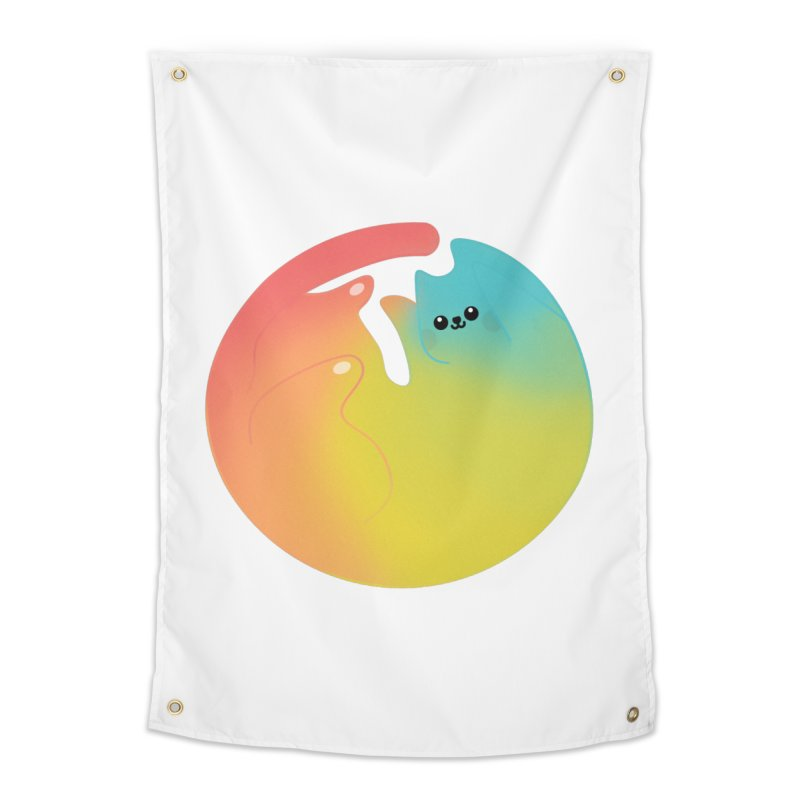 Rainbow Cat Home Tapestry by theladyernestember's Artist Shop