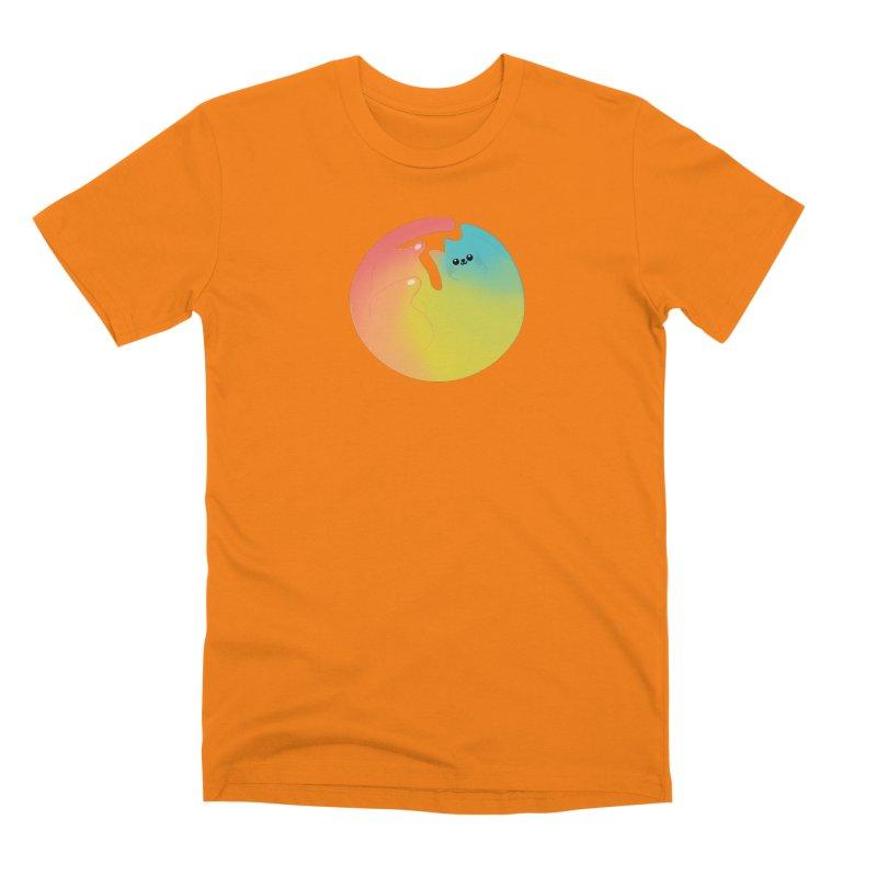 Rainbow Cat Men's T-Shirt by theladyernestember's Artist Shop