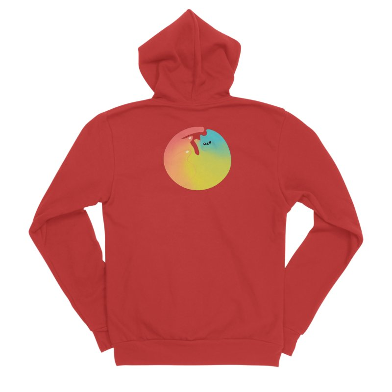 Rainbow Cat Men's Zip-Up Hoody by theladyernestember's Artist Shop