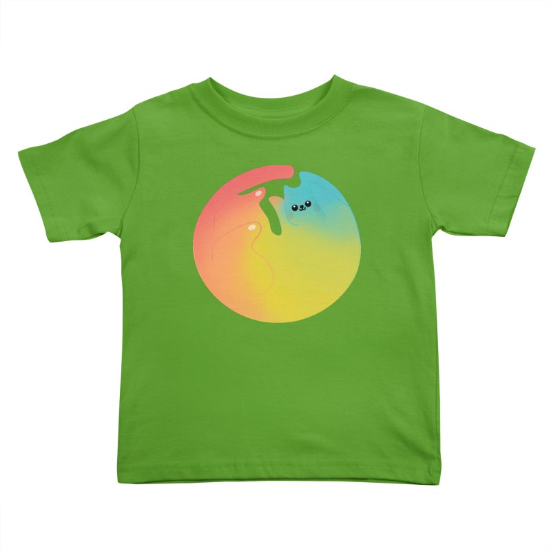 Rainbow Cat Kids Toddler T-Shirt by theladyernestember's Artist Shop