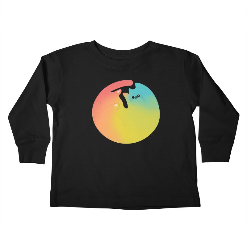 Rainbow Cat Kids Toddler Longsleeve T-Shirt by theladyernestember's Artist Shop