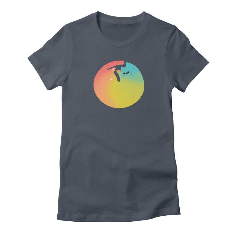 Rainbow Cat Women's T-Shirt by theladyernestember's Artist Shop