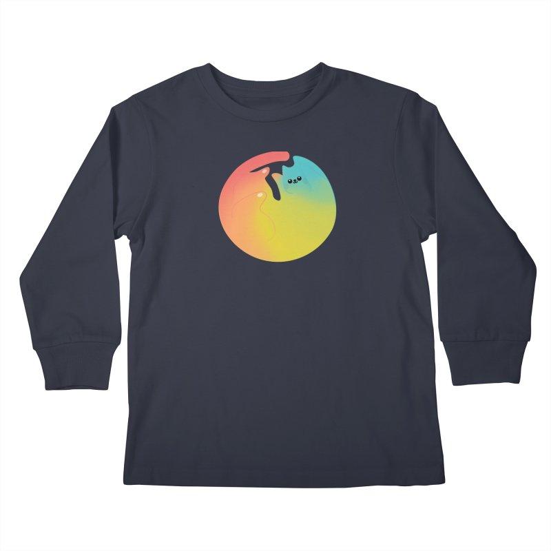 Rainbow Cat Kids Longsleeve T-Shirt by theladyernestember's Artist Shop