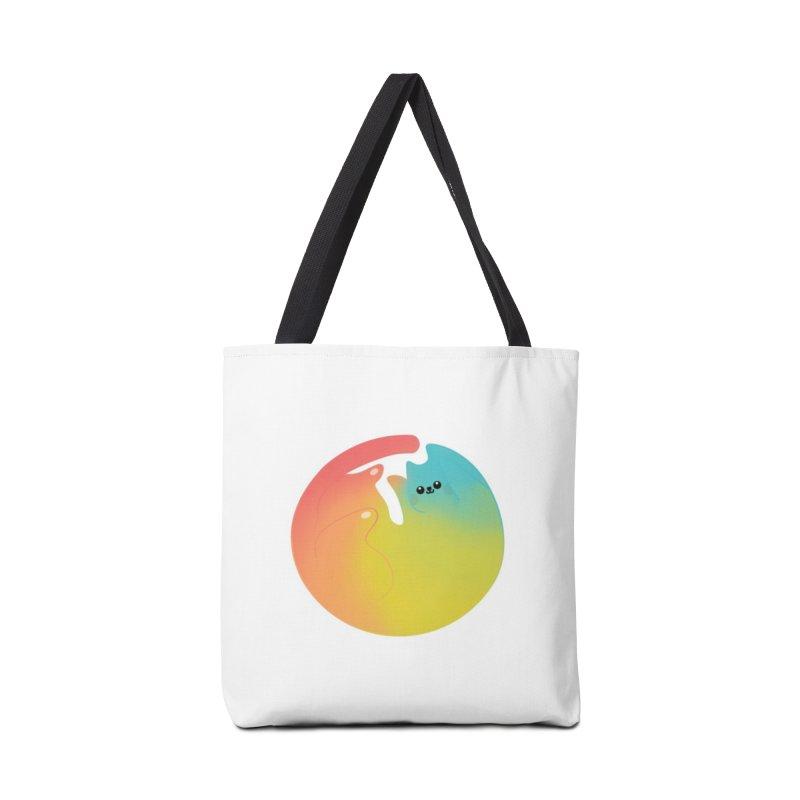 Rainbow Cat Accessories Bag by theladyernestember's Artist Shop