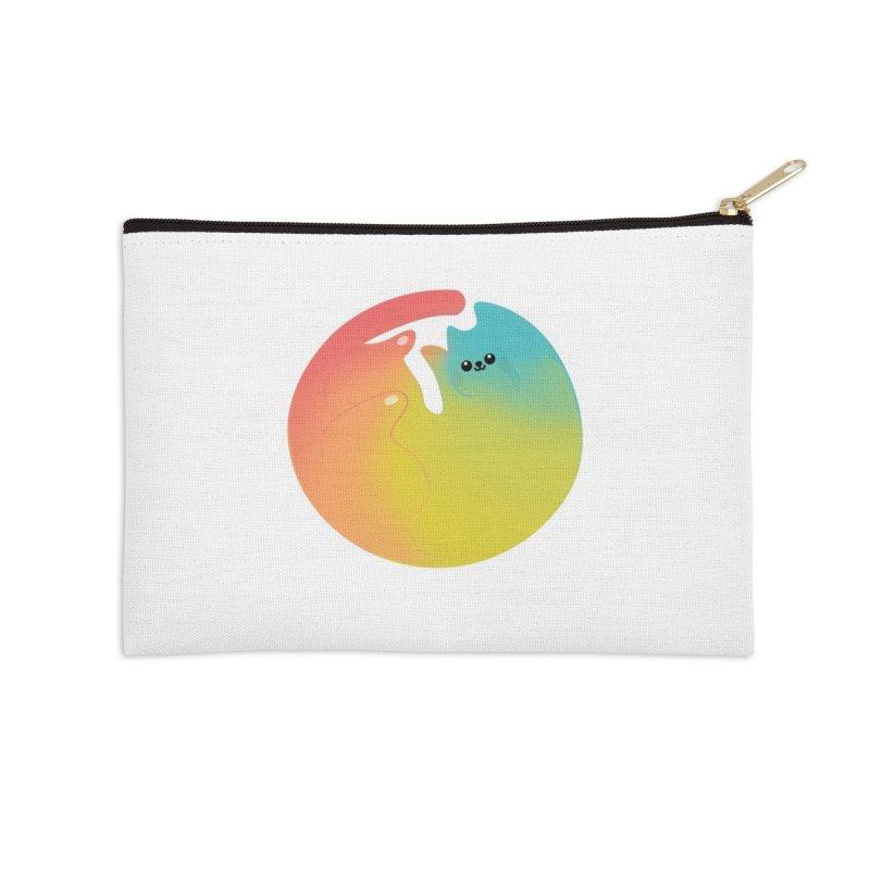 Rainbow Cat Accessories Zip Pouch by theladyernestember's Artist Shop