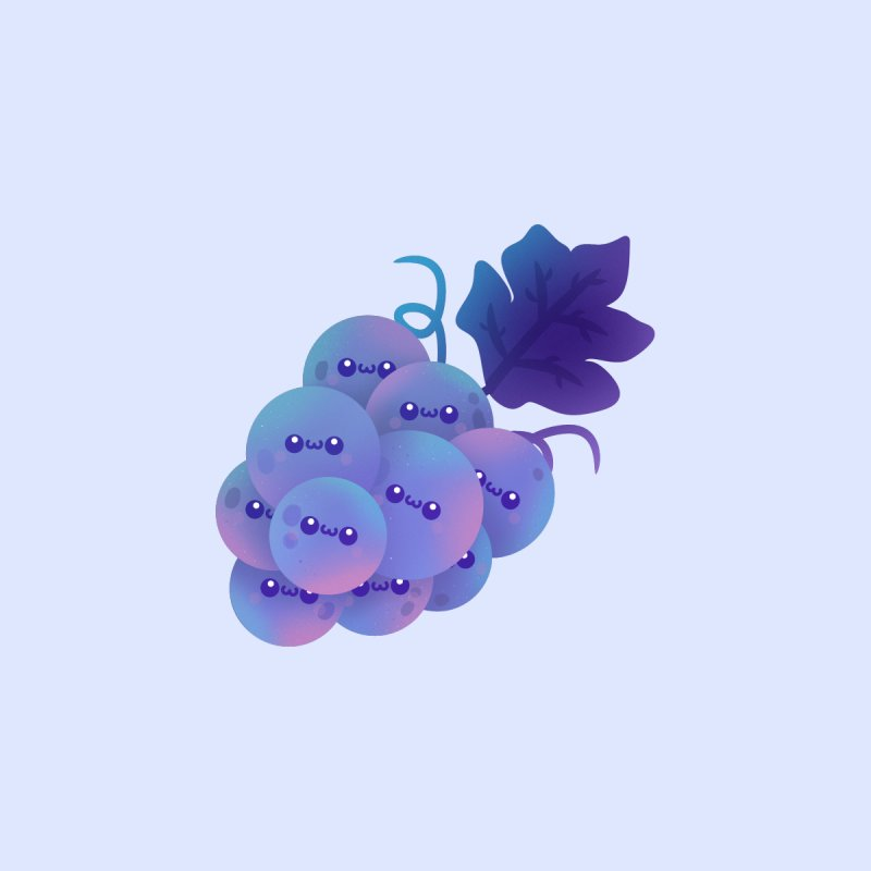 Grapes Accessories Sticker by theladyernestember's Artist Shop